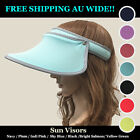 Unisex Golf Tennis Sports Wide Brim Sun Visors UV Protect FREE SHIPPING AU WIDE!