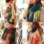 Fashion Warm Winter Women Long Cashmere Wool Scarf Large Shawl Lady Plaid Scarf