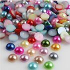 2000X Half Pearl Round Bead Flat Back 2MM - 8MM Scrapbook for Craft FlatBack DIY