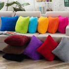 Soft Plush Square Pillow Case Sofa Bed Waist Throw Cushion C