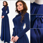 Evening Formal Party Cocktail Long Dress Bridesmaid Long Sleeve Prom Gown