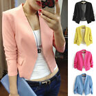 Cardigan Women Slim Casual Solid Colour Business Blazer Suit Jacket Coat Outwear