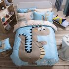 Kids Jurassic Dinosaur Bedding Cute Single/ Queen