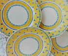 Set of 4 Churchill HERAT Dinner Plates Yellow Blue French Provincial Style
