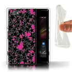STUFF4 Gel/TPU Phone Case for Sony Xperia M/C1905 /Scatter Stars