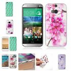 Embrossed Cute Cartoon Scenery Soft Silicone New Fashion Back Cover Case For HTC