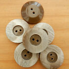 5 beautiful brown marble effect dimple buttons  17mm 23mm or 28mm