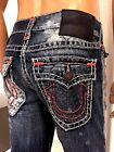 TRUE RELIGION MENS JEANS RICKY W FLAP SUPER T 399 SZ 28293031333442