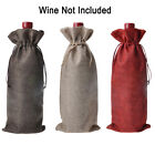 NEW Wedding Christmas Linen Wine Bottle Cover Gift Bag Party Table Decor 16x36cm