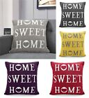 Home Sweet Home Cotton Chenille Cushion Cover Scatter Pillow 43cm x 43cm