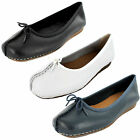 SALE Ladies Clarks Leather Slip on shoes FRECKLE ICE D WIDTH FITTING