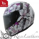MT THUNDER KIDS WILD GARDEN WHITE PURPLE KIDS CHILDRENS MOTORCYCLE HELMET
