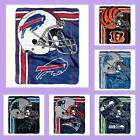NFL Licensed Touchback Plush Raschel Afghan Throw Blanket - Choose Your Team