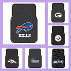 NFL Licensed Rubber Car & Truck Floor Mats Set (2 Mats) - Choose Your Team