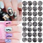 Nail Art Stamp Template Image Plates Manicure Print Design Qgirl Serie 40 Styles