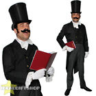 MENS DICKENSIAN CHRISTMAS CAROLLER COSTUME ADULT VICTORIAN CHRISTMAS FANCY DRESS