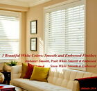 "2"" FAUXWOOD BLINDS 14 1/8"" WIDTH x 85"" to 96"" LENGTHS - 3 GREAT WHITE COLORS!"
