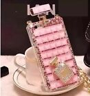 New Bling Daisy Flower Perfume Shaped Chain case for apple iphone Samsung