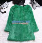 Womens Winter Jackets Candy Color New Overcoat Long Real Fur Coats Sz 2XL