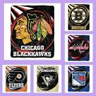 NHL Licensed Puck Sherpa Afghan Throw Blanket - Choose Your Team