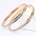 2PCS Fashion Women Circle Frosted Bracelets Bangles Cuff Set Charm Jewelry
