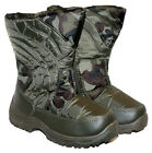BOYS/GIRLS WINTER SNOW BOOT WARM LINED WITH A SIDE ZIP SIZE 6-2