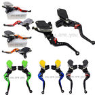 CNC Universal Motorcycle Dual Master Cylinder Hydraulic Brake Clutch Perch Lever