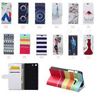 Luxury Painting Leather Folio Wallet Case Cover For Samsung Mobile Phones 05a