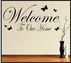 FAMILY WALL ART STICKERS QUOTES WELCOME HOME DECOR HALLWAY LOUNGE PHRASES WORDS