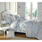 French Vintage Rose Duvet Cover with Reversible Patchwork in Blue