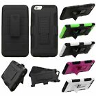 Hard Soft Hybrid Case Cover Stand Belt Clip Holster for Apple iphone 6 6s Plus