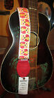 Souldier Owl Guitar Strap White w/ Red Ends Durable Quality Guitar Strap Wilco