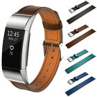 Genuine Leather Watch Band Wrist Strap Wristband Replacement For Fitbit Charge2