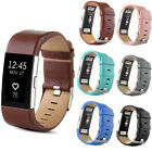 Genuine Leather Replacement Strap Wrist Watch Band For Fitbit Charge 2 Tracker -