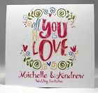 Wedding Invitations personalised with envelopes, day or  evening handmade