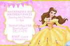 Personalised Princess Belle Beauty Birthday Party Invites inc envelopes (V2)