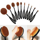 10Pcs Professional Makeup Brushes Set Oval Cream Puff Toothbrush Br