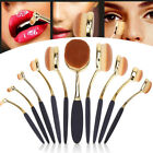 10Pcs Professional Makeup Brushes Set Oval Cream Puff Toothbrush Brush Rose Gold фото