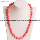 Dyed Pink Orange Red Genuine Coral Beads Princess Beaded Jewelry Necklaces 18""