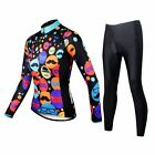 New Arrival Women Outdoor Cycling Jerseys Pants Sets Long Sleeve Clothing Suits