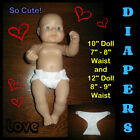 "Внешний вид - DIAPER 10 or 12"" Doll Waist 7-9"" LOTS 1-2-3 Handmade Clothes the Crafty Grandmas"