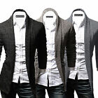 Korean Men's Slim Fit Solid Cardigan Coats Trends Casual Knitted Jumper Sweaters