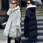 women's New autumn and winter fashion cotton hooded long coat jacket Outwear