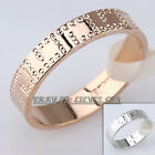 Fashion No Stone Engraved Band Ring 18KGP Size 5-9