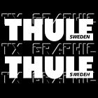 THULE SWEDEN LOGO DECAL VINYL STICKER ROOF BIKE RACK CARGO CARRIER, 1 SET OF 2