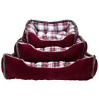 Charles Bentley Tartan Soft Dog Bed MACHINE WASHABLE - Available in 3 Sizes