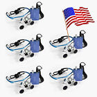 USA Blue Dental LED HeadLight Lamp+ Surgical Medical Binocular Loupes 3.5x420mm