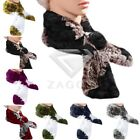 New Women's Rose Flowers Rex rabbit Fur Scarves Scarf Shawls Wraps 12x65cm