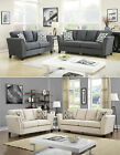 Concomitant Design 2 Colors Gray/Ivory Living Room Sofa 2 Pc Set W/Pillows