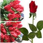 10/20pcs Real Touch Latex Rose Flowers For wedding Bouquet Decoration US